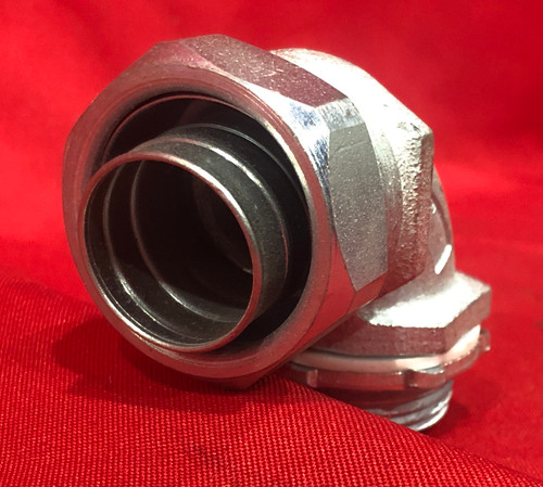 """Cooper Crouse Hinds 1 """" 90 degree Liquid Tight Connector LT10090G"""