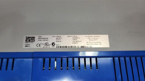 Lenze ESV373N04TXB 50HP LENZE SMVECTOR VFD 400-480VAC 3PH Input