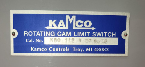 Kamco Controls Rotating Cam Limit Switch K80-1-12-R-DP-R6R8