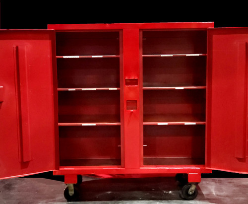 "DAYTON 6A579C TOOL CABINET w/ 6"" CASTERS"