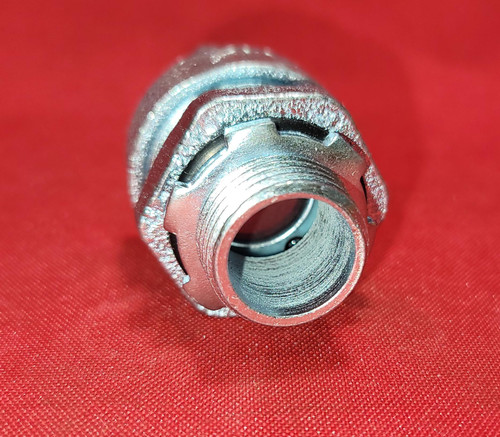 "O-Z Gedney 1/2"" Sealtight Straight Steel Connector - 4Q50"