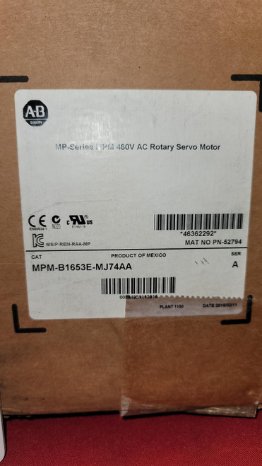 Allen  Bradley MPM-B1653E-MJ744A MP Series Medium-inertia Servo Motor