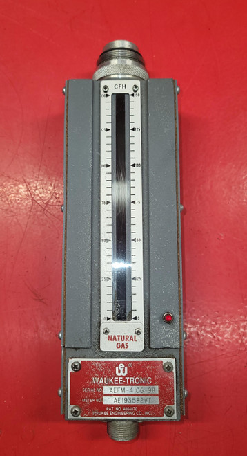 Waukee  Valve-Tronic Plus Electronic 0-150 cfh Natural Gas Flo-Meter M-6
