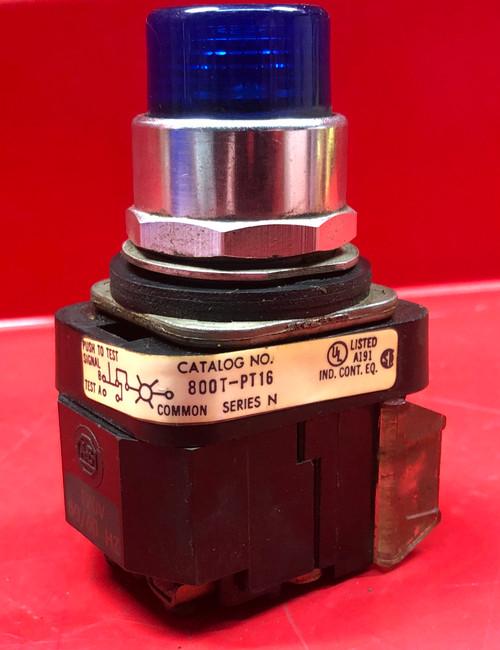 Allen Bradley 800T-PT16 Pilot Light (Blue Lens)
