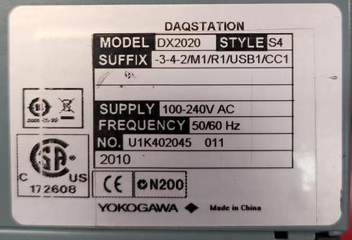 Yokogawa DX2020  DAQStation Chart Recorder