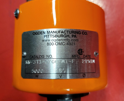 Ogden 5 KW Pipe Plug Immersion Heater - KW-3T1-0706-M1-F