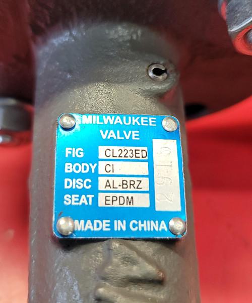 """Milwaukee Valve CL223ED 3"""" Butterfly Valve"""
