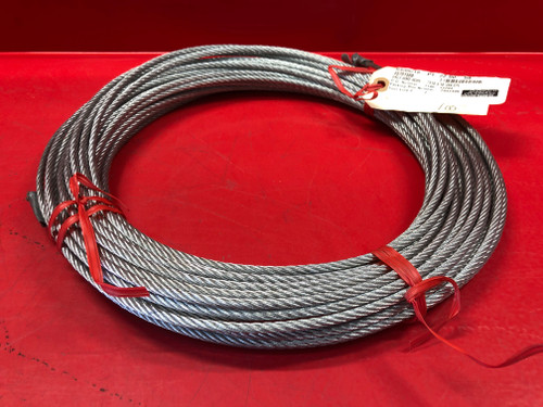 "3/16"" Galvanized Aircraft Cable Steel Wire Rope 7x19 (100 Feet)"