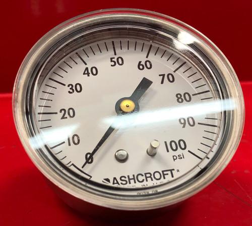 Ashcroft 63W3005 H 02B - 0-100 Psi - Pressure Gauge