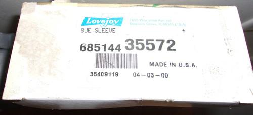 Lovejoy 35572 Size 8je Solid Design S-flex Coupling Sleeve