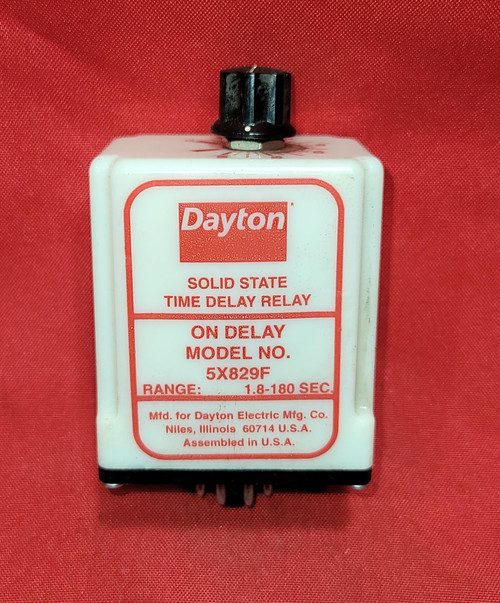 Dayton 5X829F Solid State Time Delay Relay