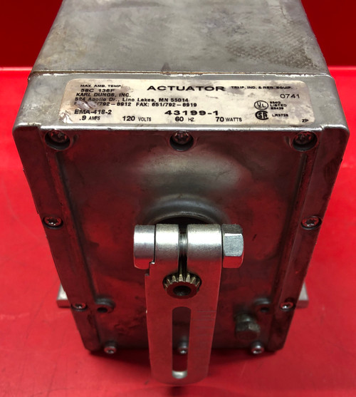Dungs EMA-418-2 CCW Spring Return Electric Actuator P/N 43199-1