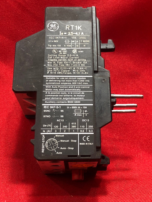 General Electric RT1K  Overload Relay