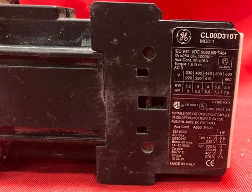 GE CL00D310T Contactor