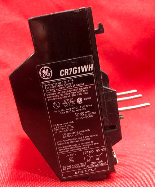 GE CR7G1WH Overload Relay