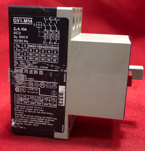 Telemecanique GV1-M14 Motor Protector