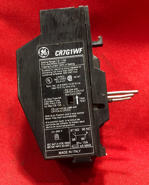 General Electric CR7G1WF Overload Relay