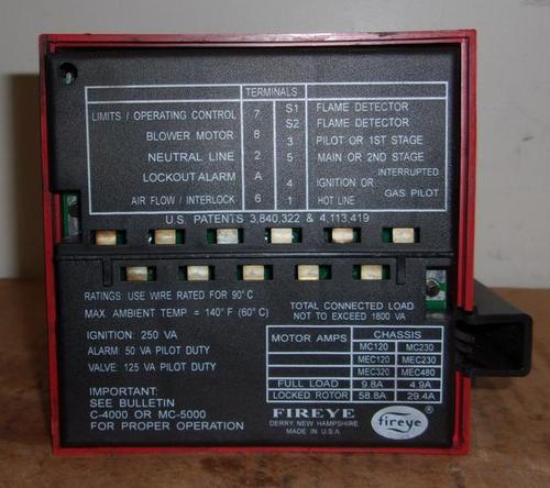 Fireye Modular M-Series II Flame Safeguard Controls 120/230V Chassis C-4000