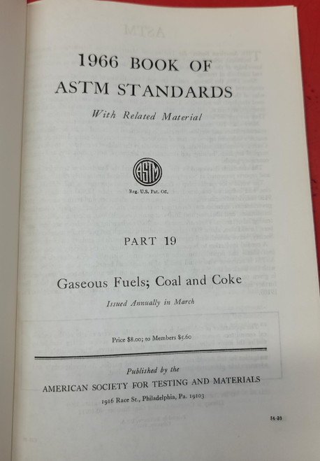 1966 Book Of ASTM Standards Part 19