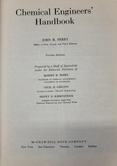 Perry's Chemical Engineers' Handbook (1963)