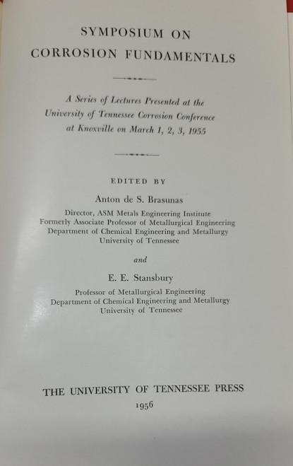 Symposium On Corrosion Fundamentals