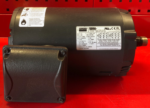 Dayton 36VF47A General Purpose Motor 3 Phase 1.5 HP