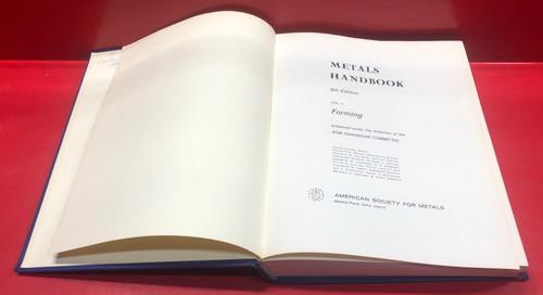 ASM Metals Handbook Volume 4  Forming 8th Edition