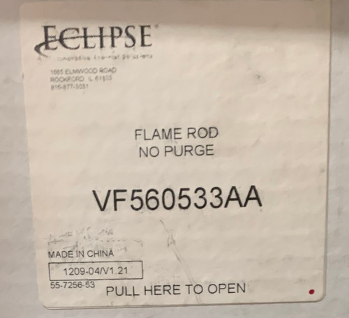 Eclipse Combustion Veri-flame - Flame Rod; No Purge Part#: VF560533AA