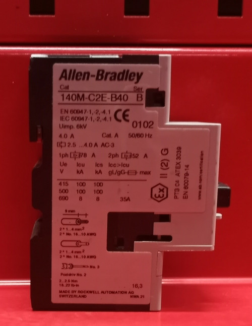 Allen Bradley 140M-C2E-B40 Series B Circuit Breaker
