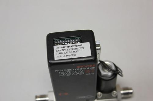 BROOKS 5866 RT PRESSURE CONTROLLER FLOW METER - 5866RC1H1B4P65A