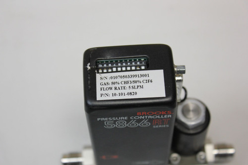 BROOKS 5866 RT PRESSURE CONTROLLER FLOW METER P/N:10-101-0820