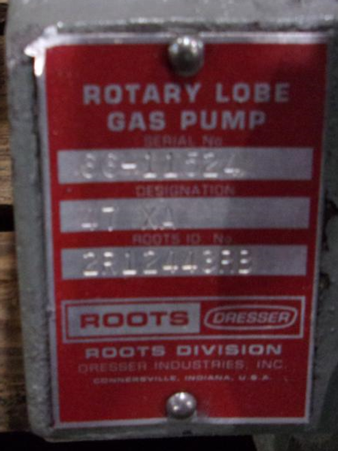 Roots Dresser 47XA Rotary Lobe Gas Pump