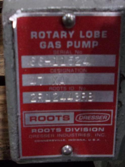 Roots Dresser 47XA Rotary Lobe Gas Pump
