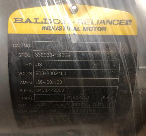 Baldor FVB3250 Blower Motor