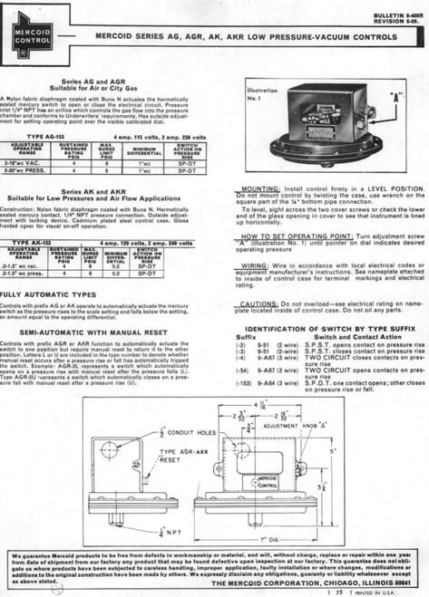 Mercoid AG-153-31 Pressure Switch