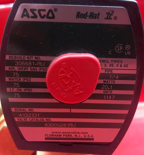 Asco 8300G081RU Solenoid Valve