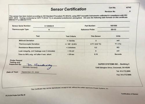 SSi Super Systems 1601900 Gold Probe - Type K (Refurbished)