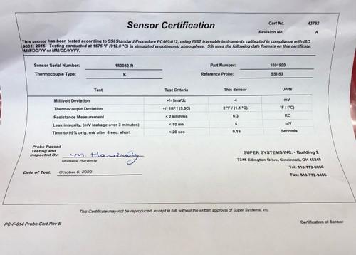 SSi Super Systems 1601900 Gold Probe - Type K - Refurbished