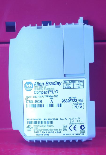 Allen Bradley Compact I/O 1769-ECR Series A Right End Cap/Terminator