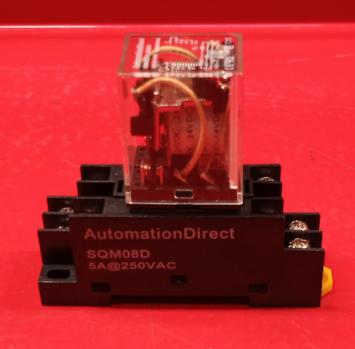 Automation Direct QM2X1-D24 Ice Cube Relay With SQM08D Socket Mount