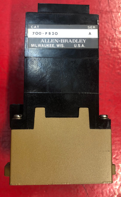 Allen Bradley 700-P400A1 Control Relay Series A with 700-PB20 Relay Deck
