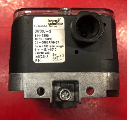 Kromschroder DG50U-3 Gas/Air Pressure Switch 84447350