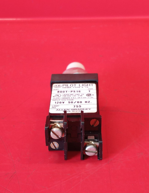 Allen Bradley 800T-PS16 Series T Pilot Light with White Cap