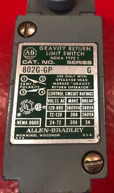 Allen Bradley 802-GP Gravity Return Limit Switch