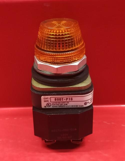 Allen Bradley 800T-P16 Orange Pilot Light