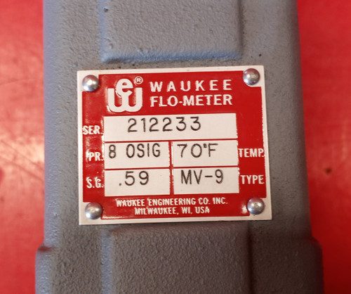 Waukee MV-9 Endothermic Gas Flo-Meter | 0-650 CFH