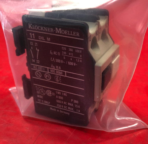 Klockner-Moeller 11 DIL M Auxiliary Contact Block
