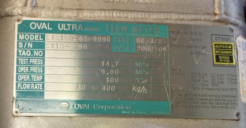 Oval Ultra mass Flow Meter CX010C-SS-999R