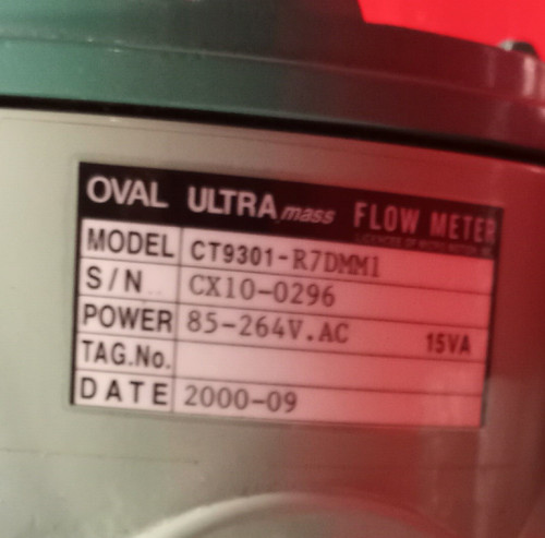 Oval Corporation Ultra mass Flow Meter CT9301