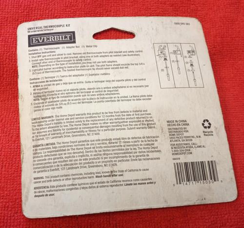 Everbilt 36In. Universal Thermocouple Kit